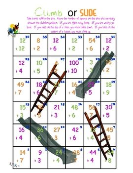 Climb Or Slide Super Fun Division Game Subtraction Games