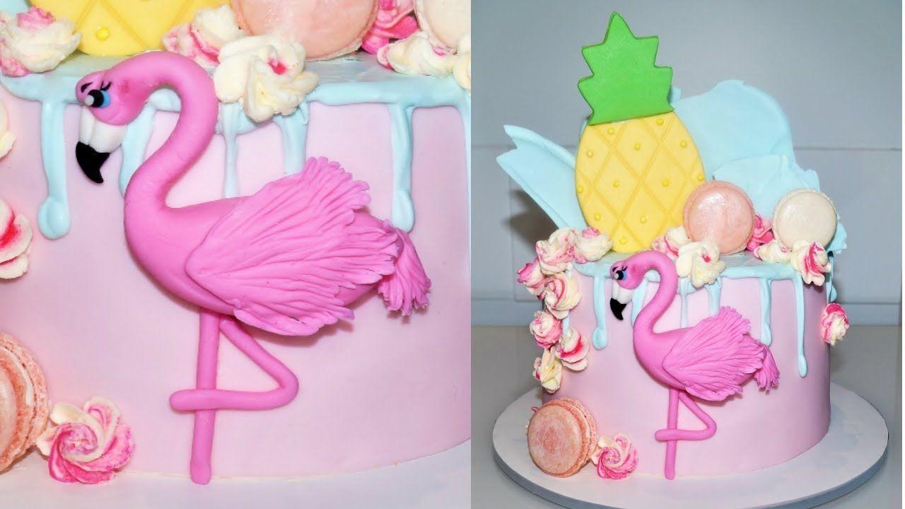 Cake decorating tutorials how to make a flamingo cake