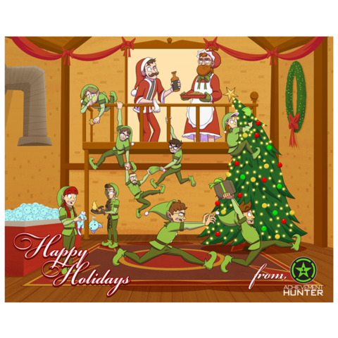 Achievement Hunter 2014 Limited Edition Holiday Print (14