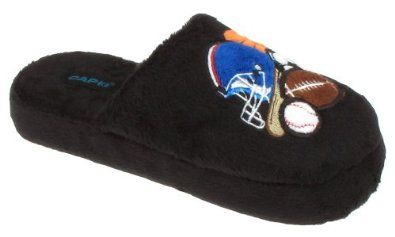 Capelli New York Scuff With All Star Champ Embroidered Applique Boys Indoor Slipper Black Large Capelli New York. $7.99