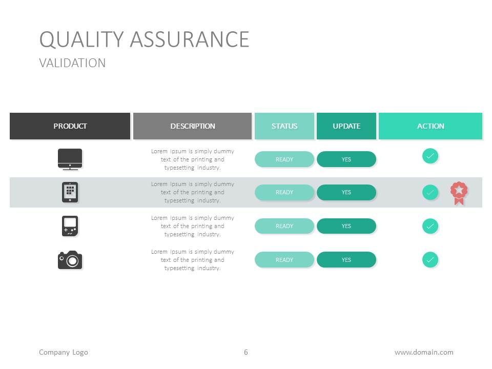 Free quality assurance PowerPoint template from Oct 12 to 18, 2015 - free swot template