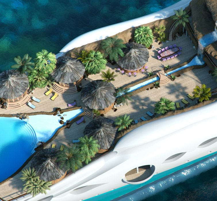 Yacht Island paradise and the floating island /by @42concepts | inspiración