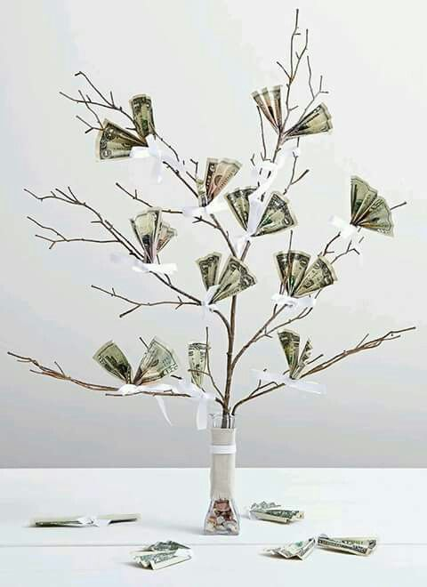 Geld trouw kado | Geschenk Ideen | Pinterest | Money trees, Gift and ...