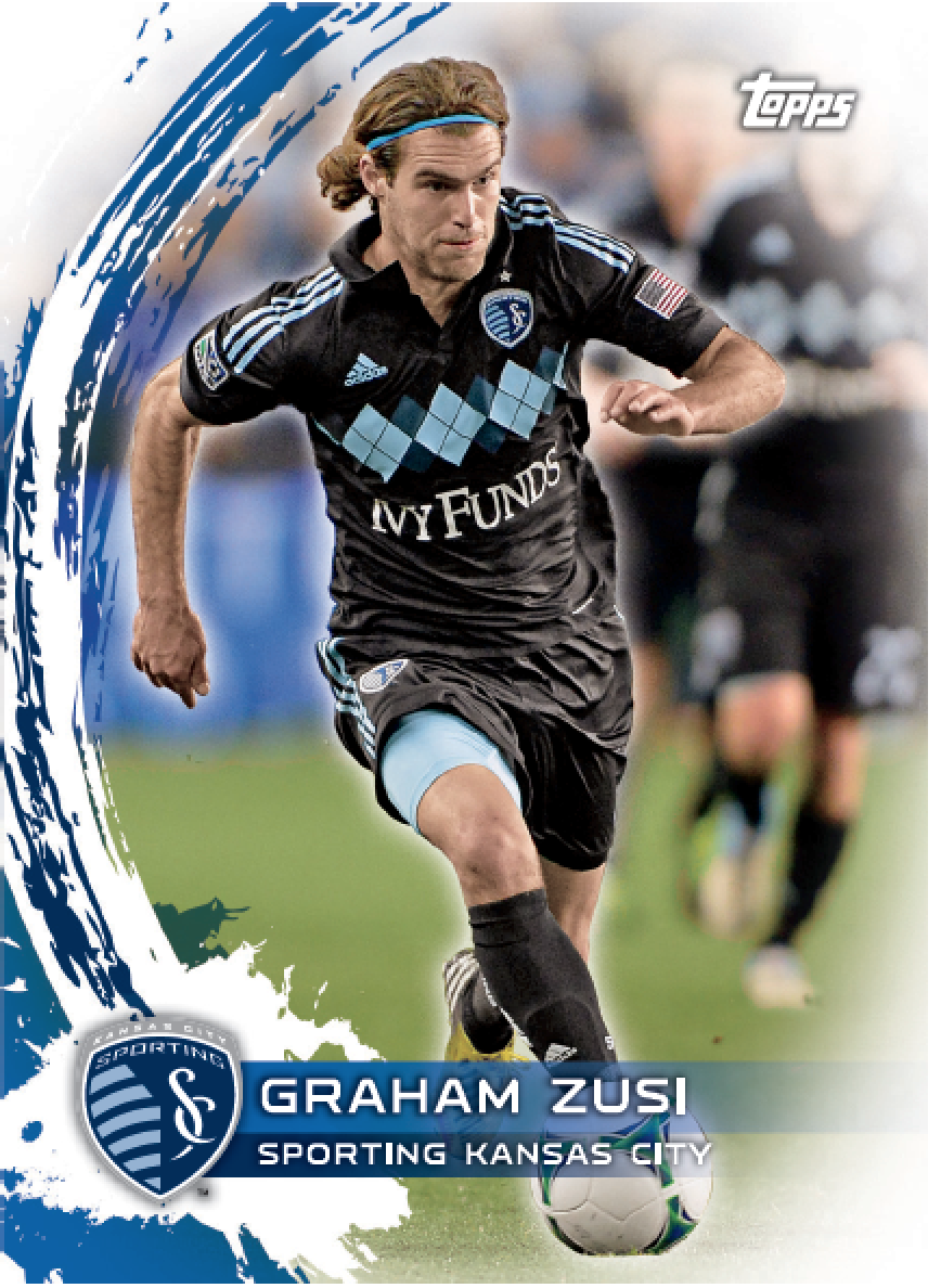 One of Graham Zusi's seven cards in the new Topps MLS