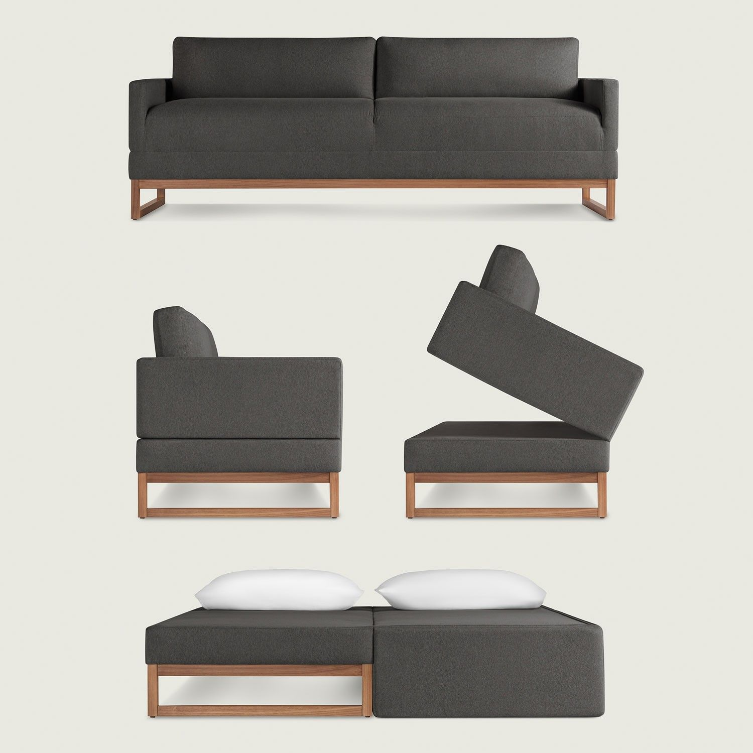 The e Night Stand Sleeper Sofa Simply remove the cushions and