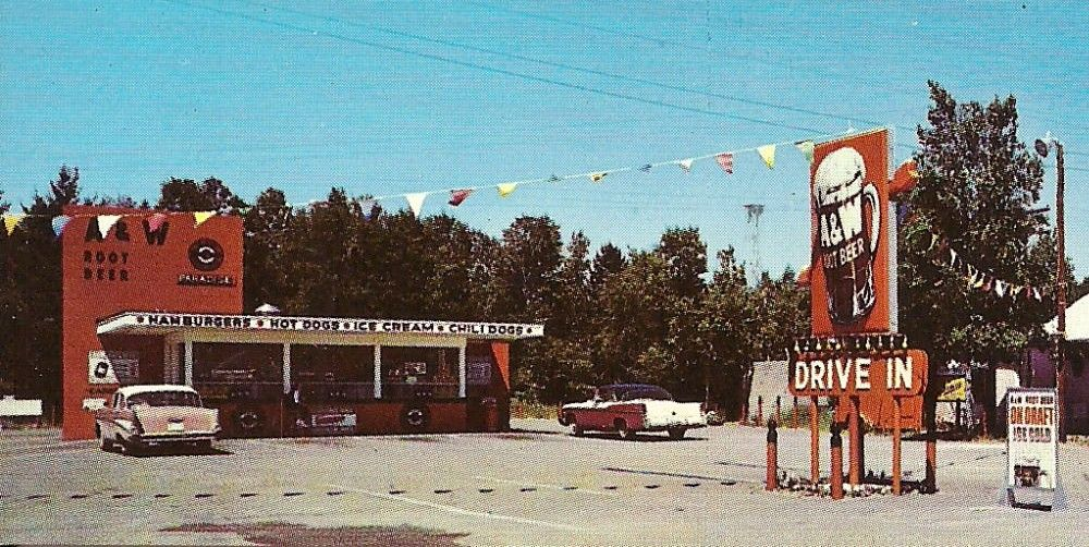 Used Cars Sioux City >> A&W Drive-In during the late 1950's. | A&w root beer ...