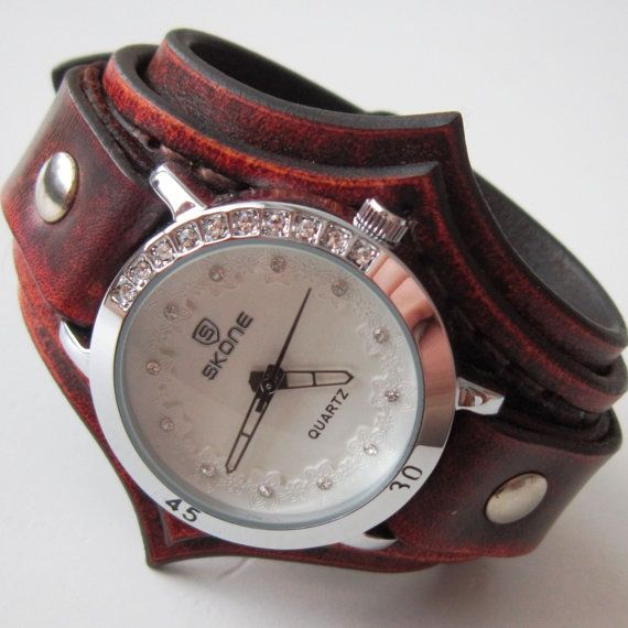 9d98b8cd5 Antiallergic Women's Watches, Watch For People With Metal Allergy,  Antiallergic Leather Cuff Watch