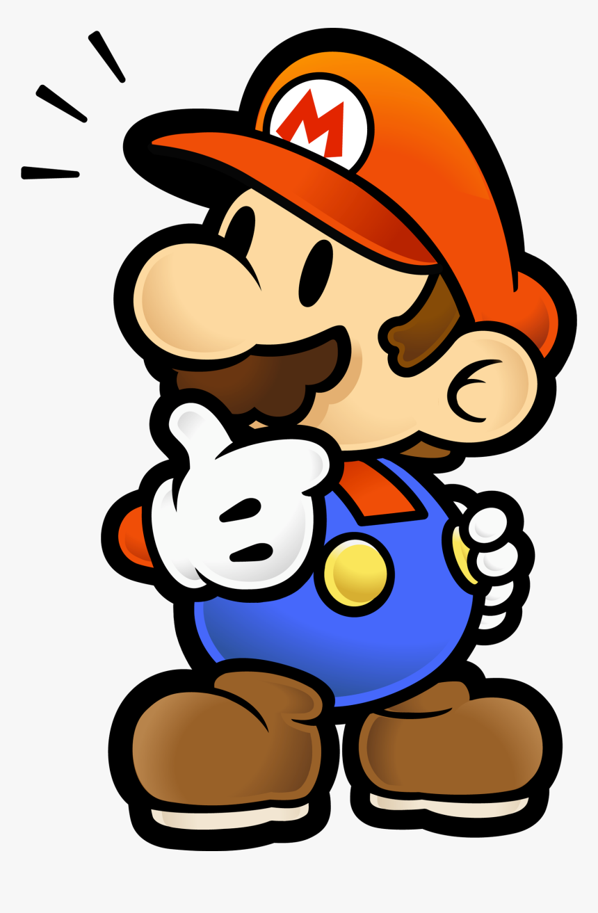 Paper Mario 2 Gamecube Game Png Download Paper Mario Thinking Transparent Png Download Is Free Transparent Png Image T Gamecube Games Paper Mario Mario