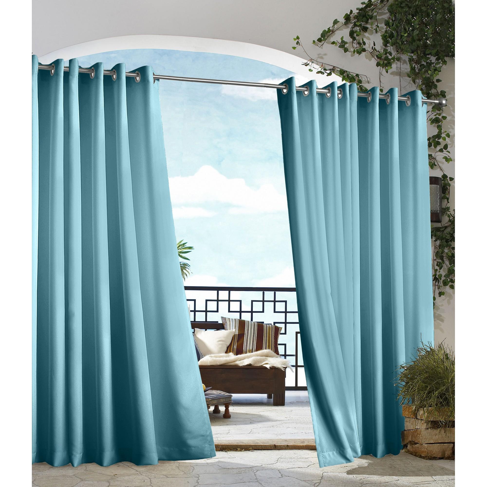 Outdoor Decor Gazebo Solid Indoor Outdoor Grommet Top Curtain Panel