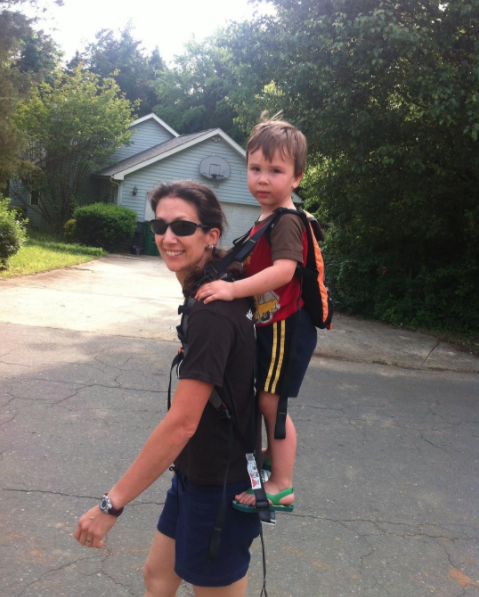 The Piggyback Rider standing child carrier for toddlers age 2-4