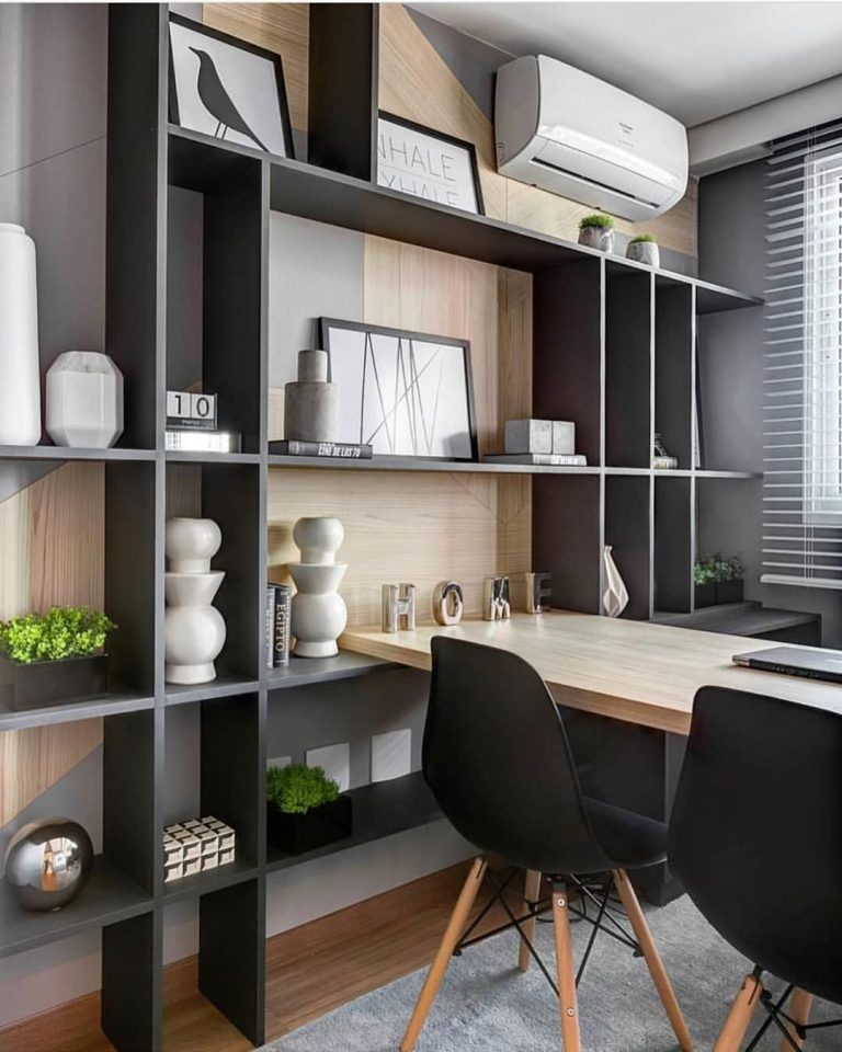 Great Home Office Shelving Design And Decor Ideas