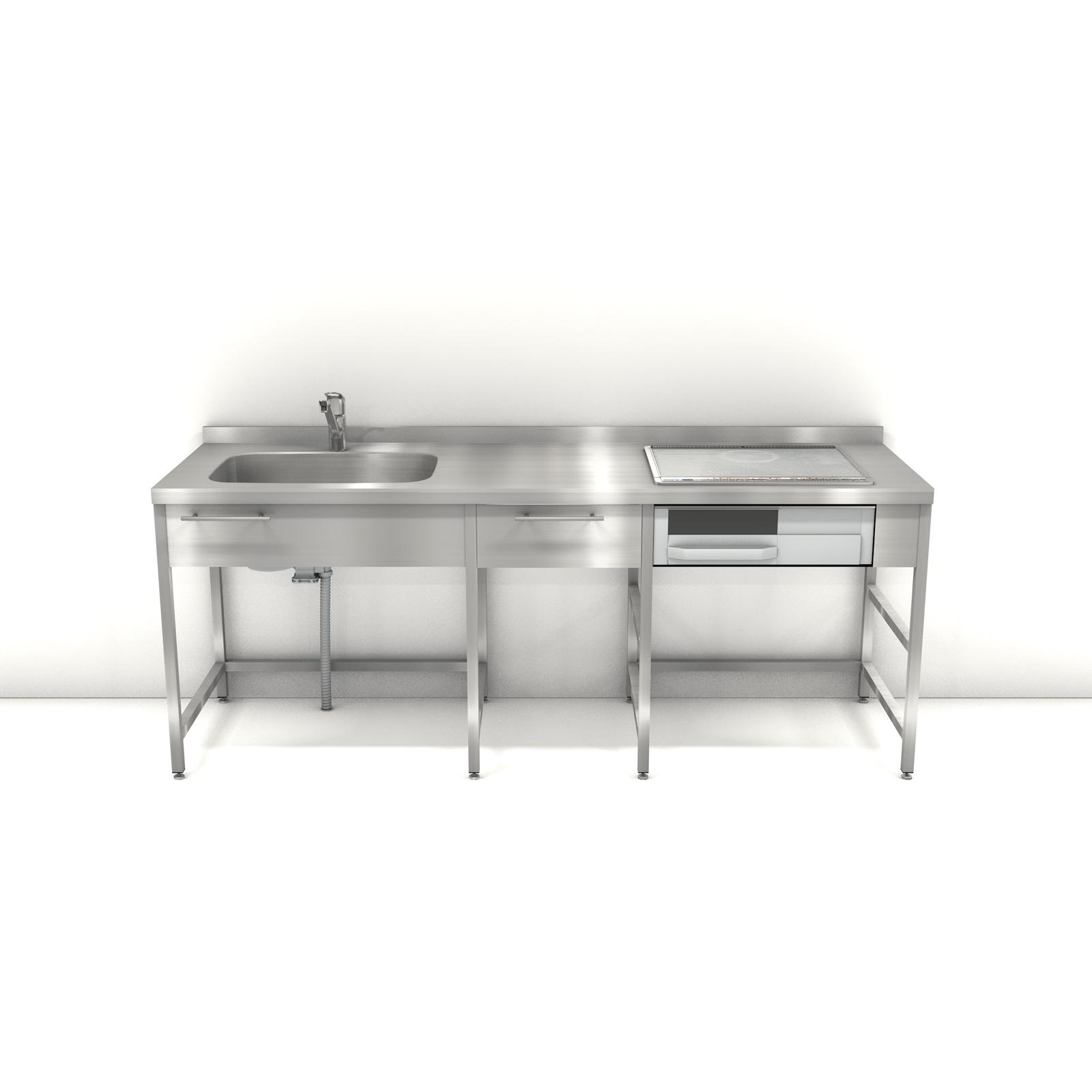 ステンレスフレームキッチン W2100 D650 キッチンデザイン キッチン