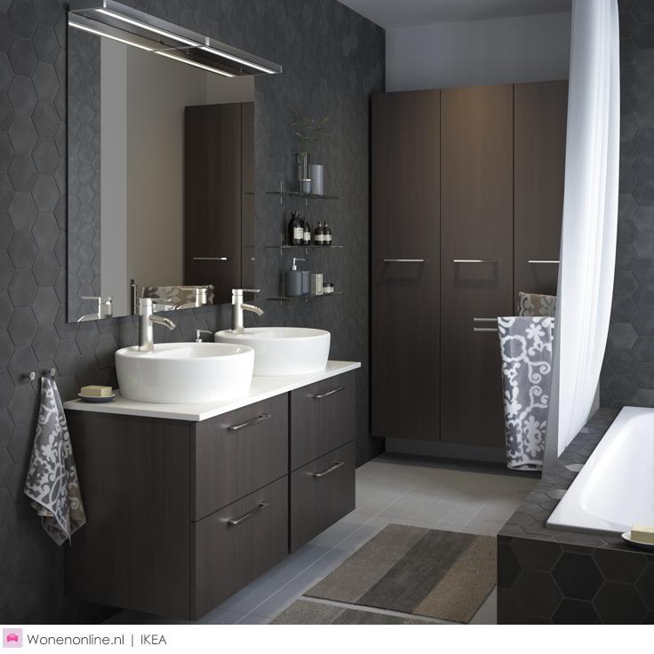 IKEA badkamer | Pinterest - Ikea badkamer, Ikea en Badkamer