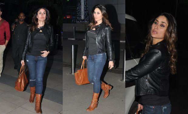 Kareena Kapoor Fashion Style Leather Pants