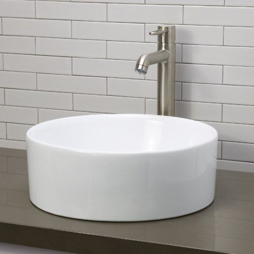decolav d1458cwh vessel style bathroom sink white at ferguson com rh pinterest co uk ferguson bathroom vessel sinks Small Bathroom Vanities Ferguson