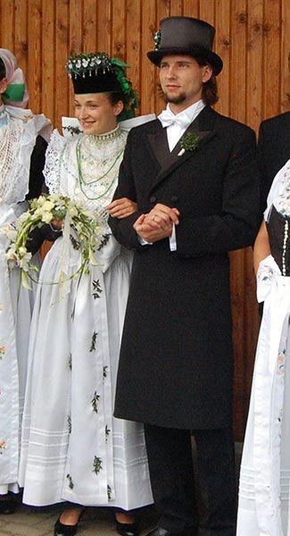 Brautpaar. Catholic sorbs