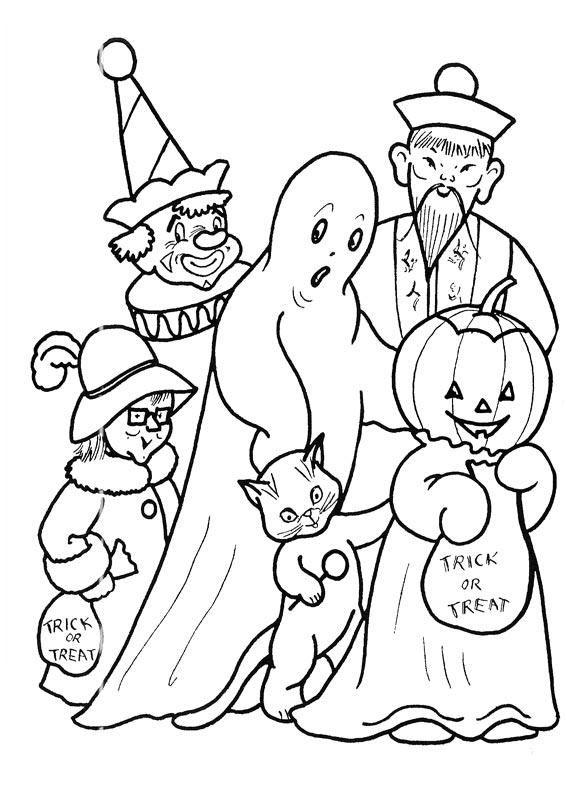 Trick or treat   Inkleur   Pinterest   Halloween coloring, Coloring ...