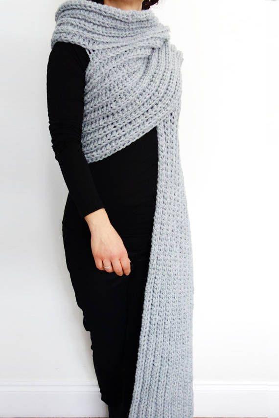 Wrap Crochet Pattern - Zendeya Inspired Wrap/Oversized Bulky Scarf ...