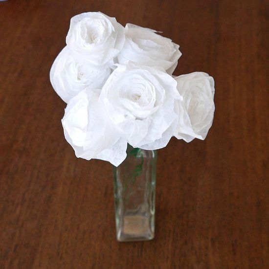 Pin for Later: 221 Upcycling Ideas That Will Blow Your Mind Coffee-Filter Roses Smell the roses with these DIY coffee-filter roses. Photo: Sarah Lipoff