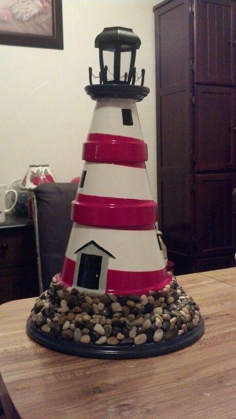 terra cotta pot lighthouse clay pots pinterest. Black Bedroom Furniture Sets. Home Design Ideas