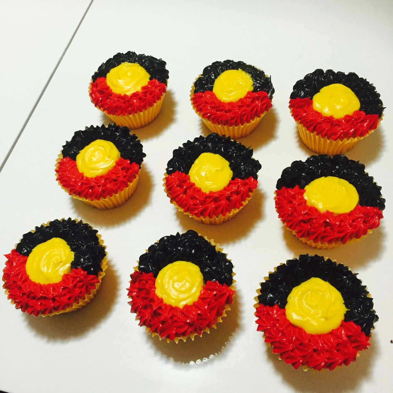 NAIDOC Week Cupcakes Aboriginal Flag