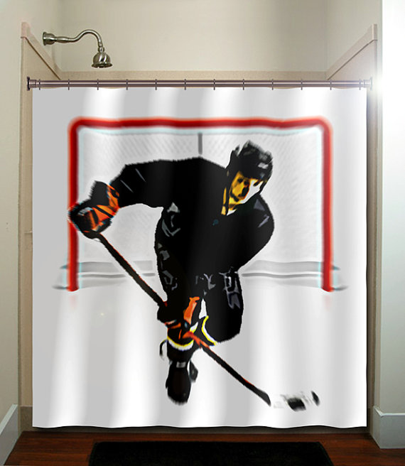 Hockey Shower Curtain Extra Long Fabric Shower Curtains Stall