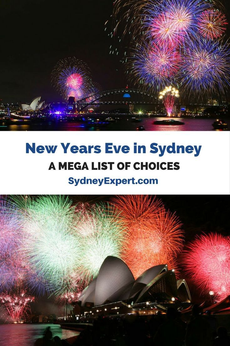 New Year's Eve in Sydney Mega list 2018 Australia travel