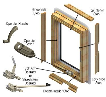 400 Series Casement Andersen Window Windows Replacement Parts