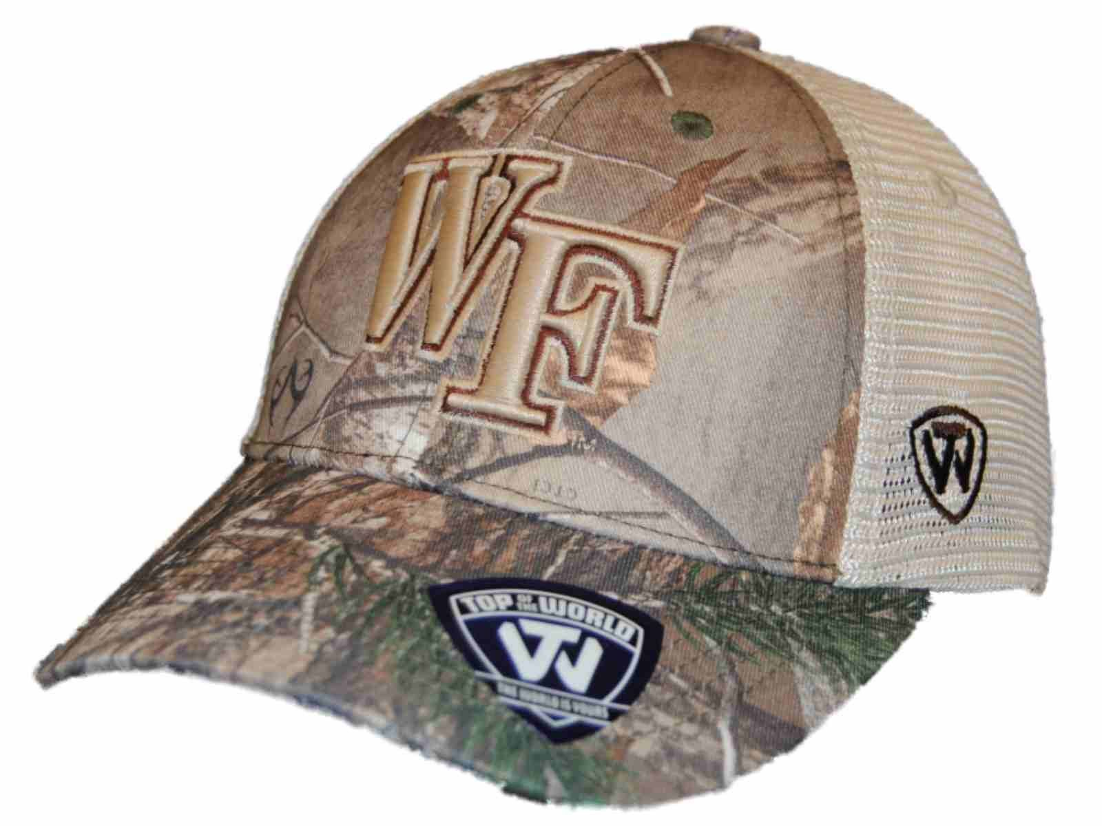 look out for detailed images new lower prices Wake Forest Demon Deacons TOW Camo Mesh Prey Adjustable Snapback ...