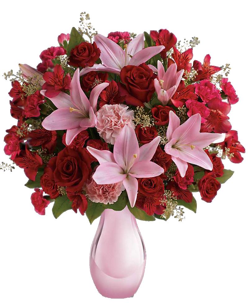 Папе день, открытки с днем рождения с лилиями и розами