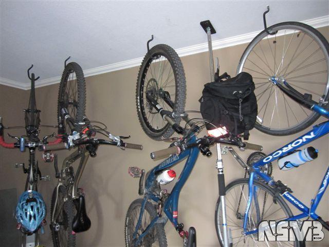 ceiling bike rack organize it pinterest. Black Bedroom Furniture Sets. Home Design Ideas