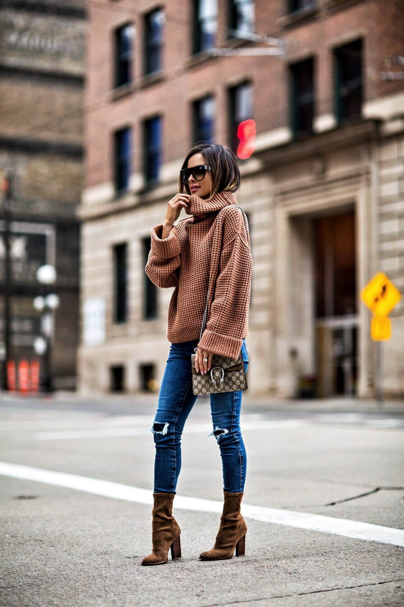 fashion blogger mia mia mine wearing an orange sweater by free people and a  gucci dionysus bag af6f5c590