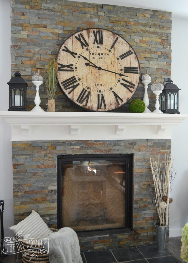 Our vintage industrial fall mantel total townhouse - Over the fireplace decor ...