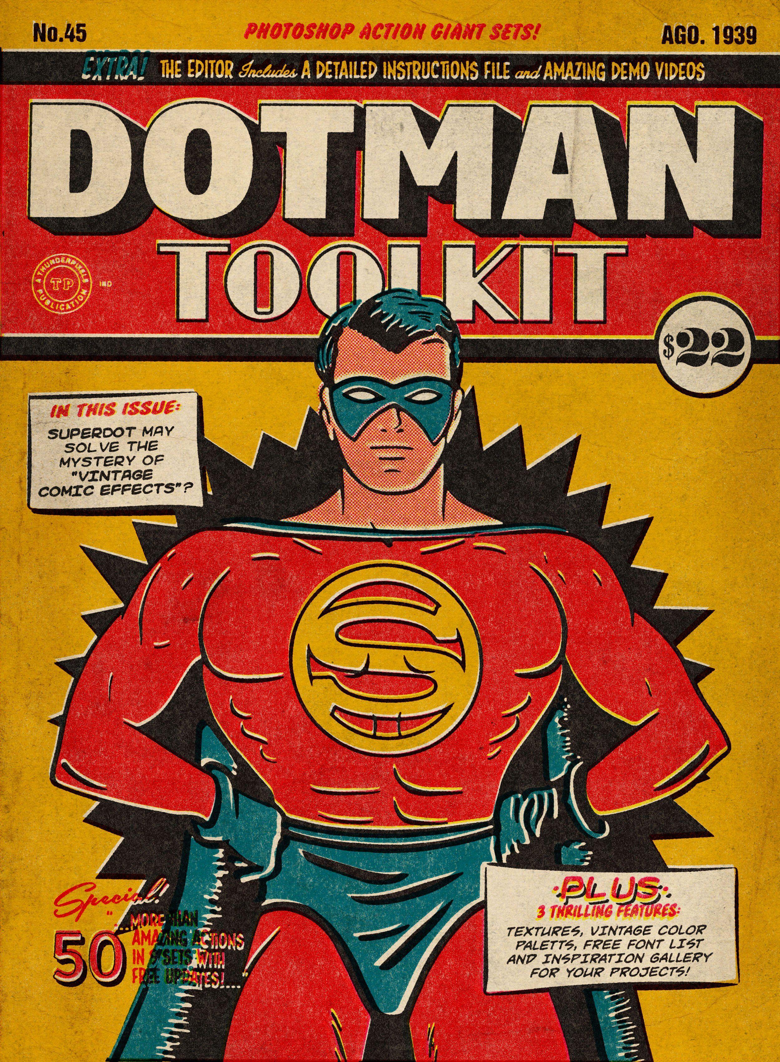 Dotman Toolkit Vintage Comic Effects Vintage Comics Vintage Comic Books Old Comic Books