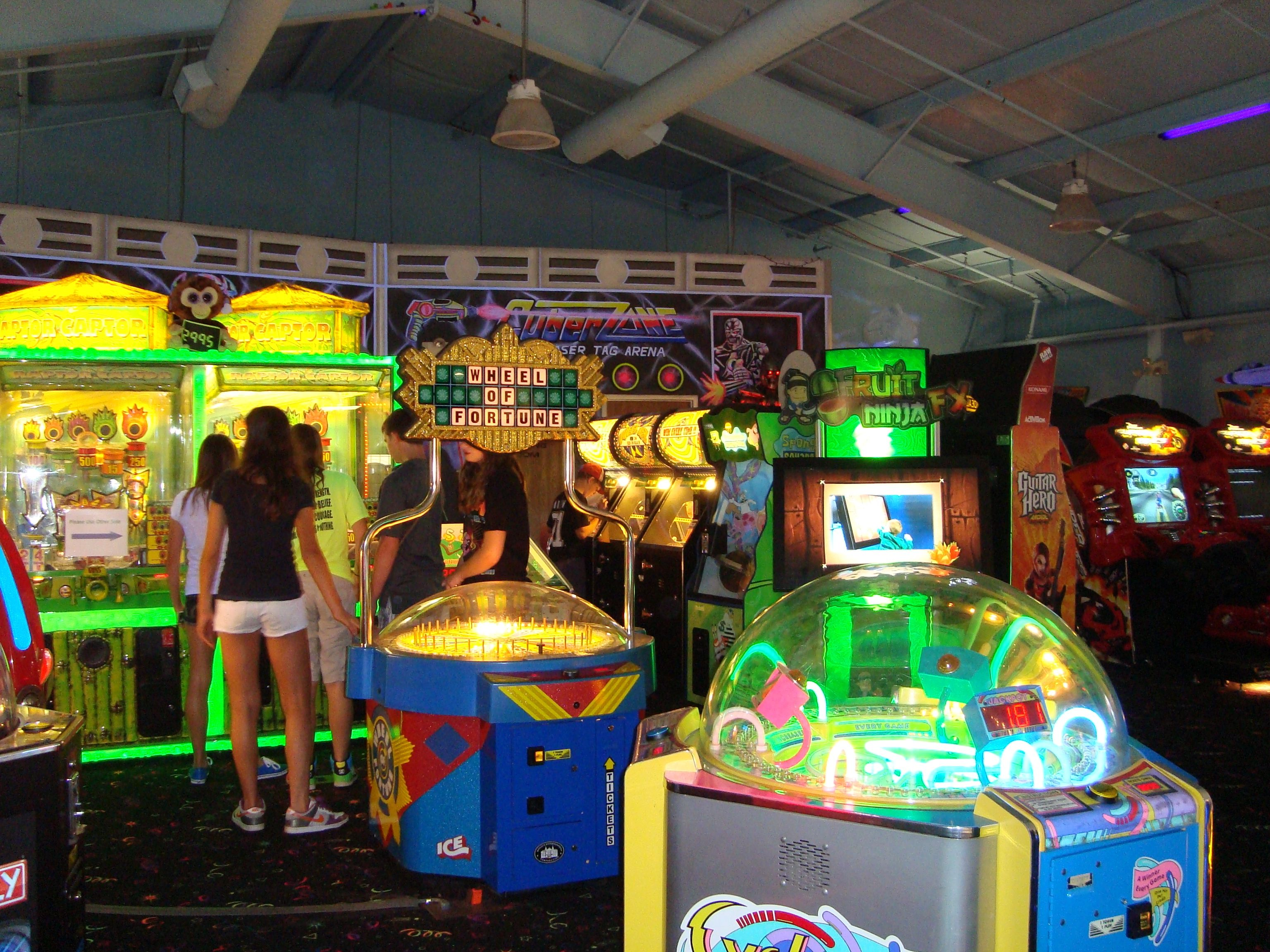 Over 70 arcade games to have fun with! Arcade room