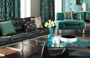 Teal And Black Living Room Classy Teal Living Rooms Teal Rooms