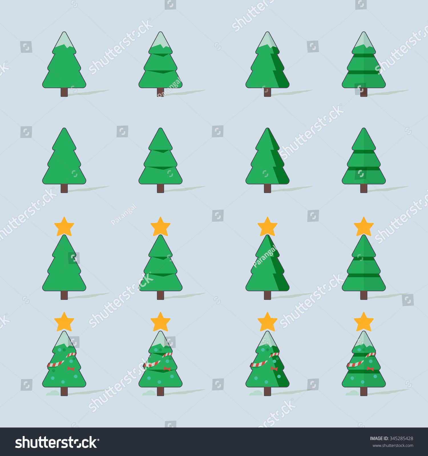 Christmas Trees Vector Illustration Set Ad Ad Trees Christmas Vector Set In 2020 Background Images Royalty Free Stock Photos Abstract Design