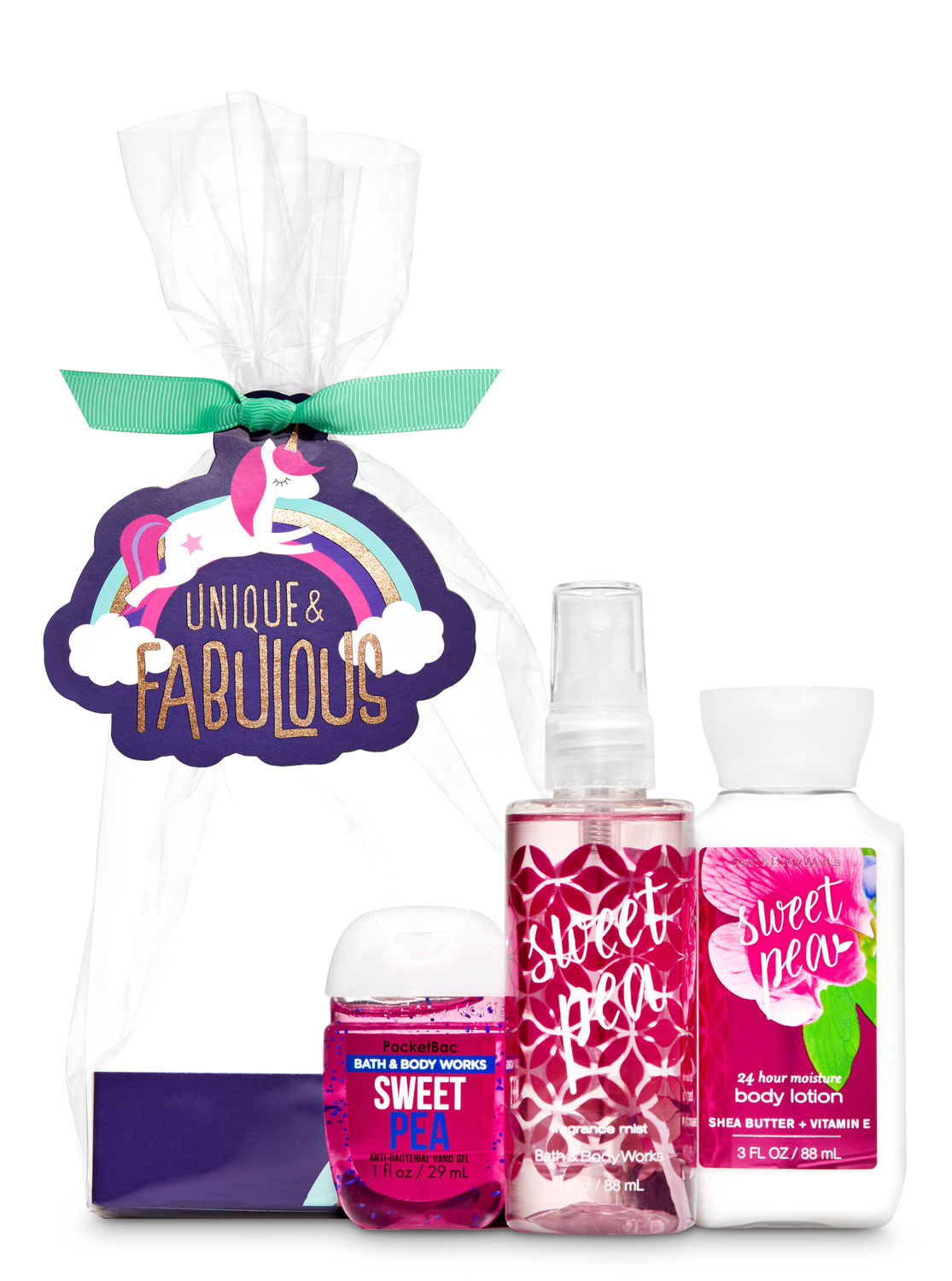 Bath And Body Works Sweet Pea Unique Fabulous Mini Gift Set
