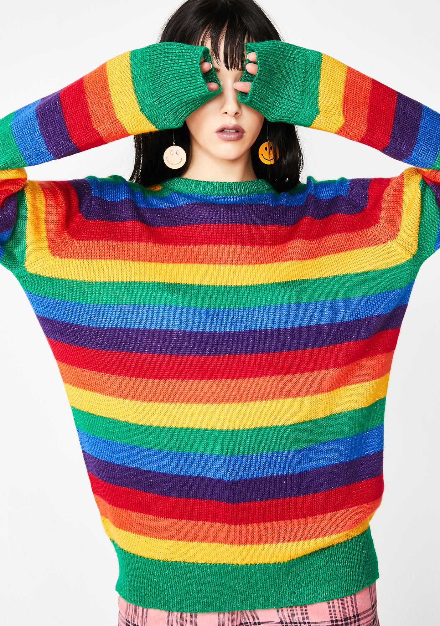 Lazy Oaf Glitter Rainbow Jumper Clothes To Buy In 2018 Pinterest