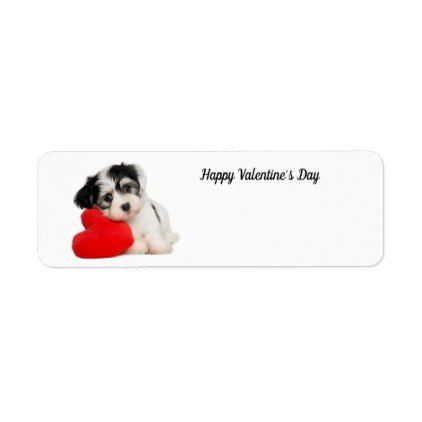 Cute Happy ValentineS Day Puppy Label  Labels Customize Diy Cyo