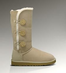 OfficialUggStore.com - Give Winter The Womens Bailey Button Triplet Sand
