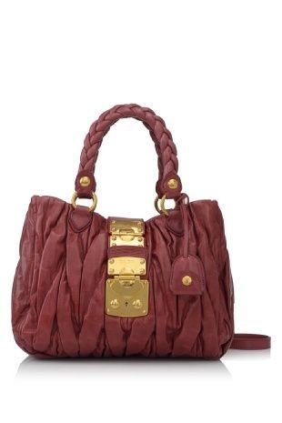 29ea0705999b Miu Miu Matelasse Lux Bauletto Aperto Color  Bruyere (Designer Color)  Material  Calfskin Leather  Made in Turkey