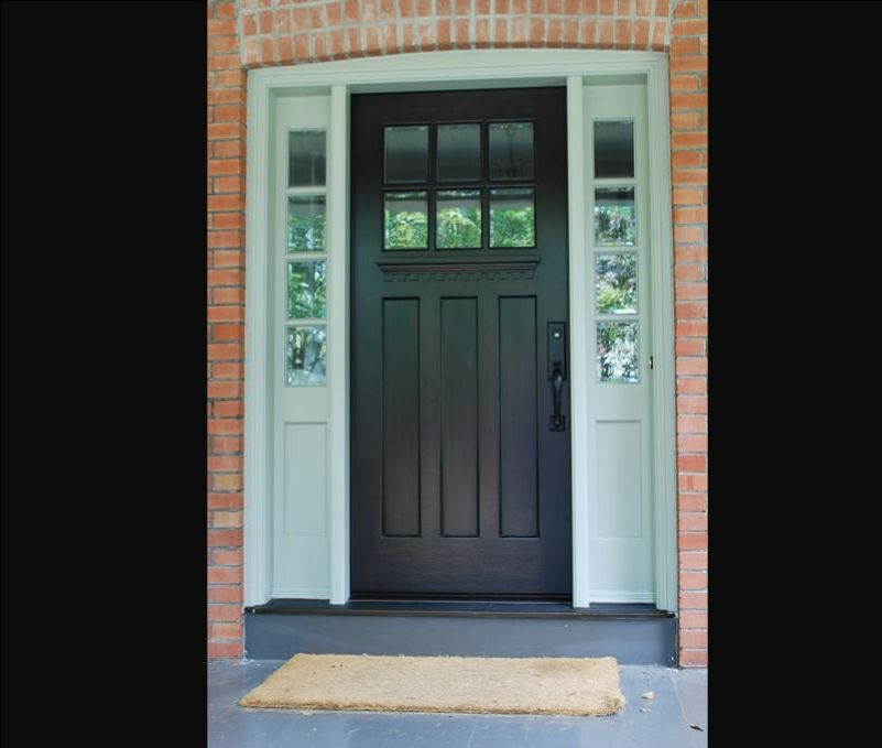 Beautiful front door; maybe in benjamin moore iron mountain or ...