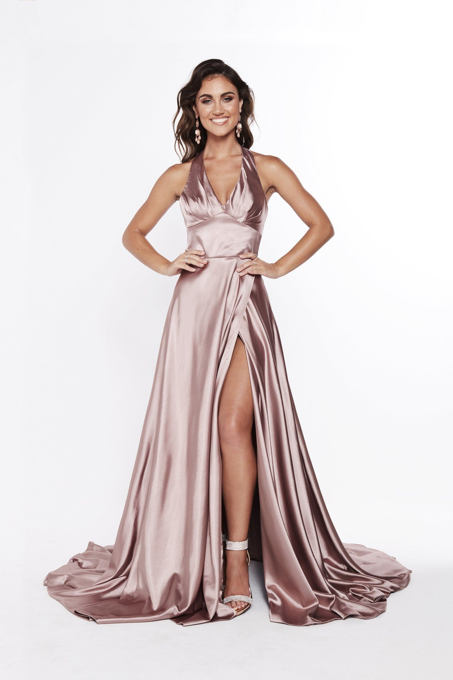6d0173137c3 A&N Luxe Abigail Gown - Mauve in 2019 | Satin silk | Satin gown ...