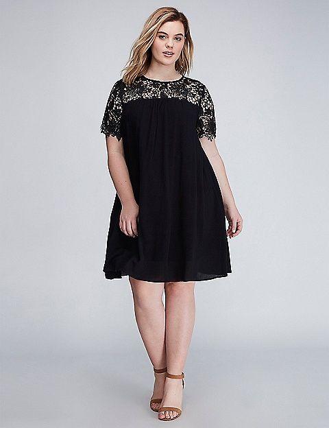 Crochet Gauze Swing Dress Dresses Swing Dress Ball Dresses