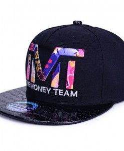 TMT The Money Team Black   Colorful Snapback Hat  953920451df