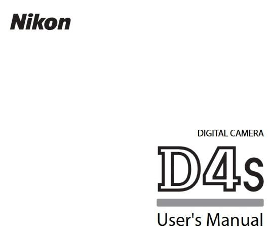 Nikon D4S Manual di 2020