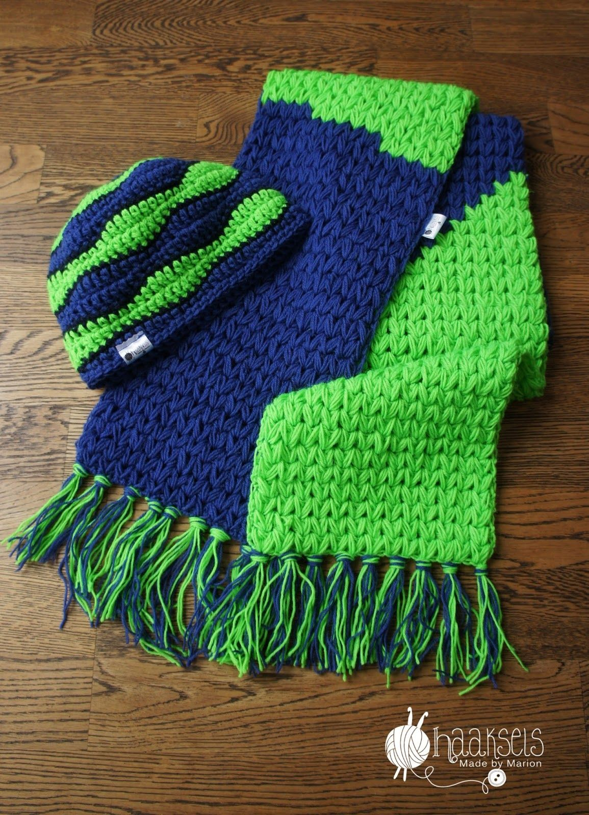 Quick and easy scarf - hat set