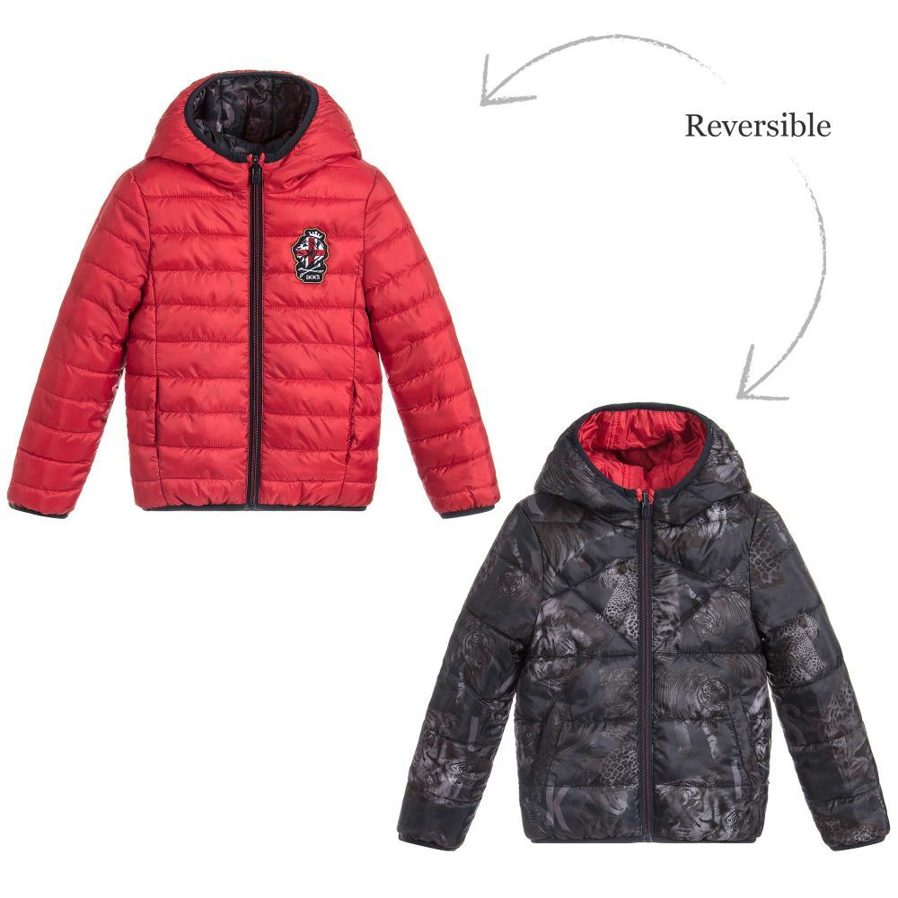 821d4f487 Boys Reversible Puffer Jacket for Boy by IKKS. Discover the latest designer  Coats & Jackets for kids online