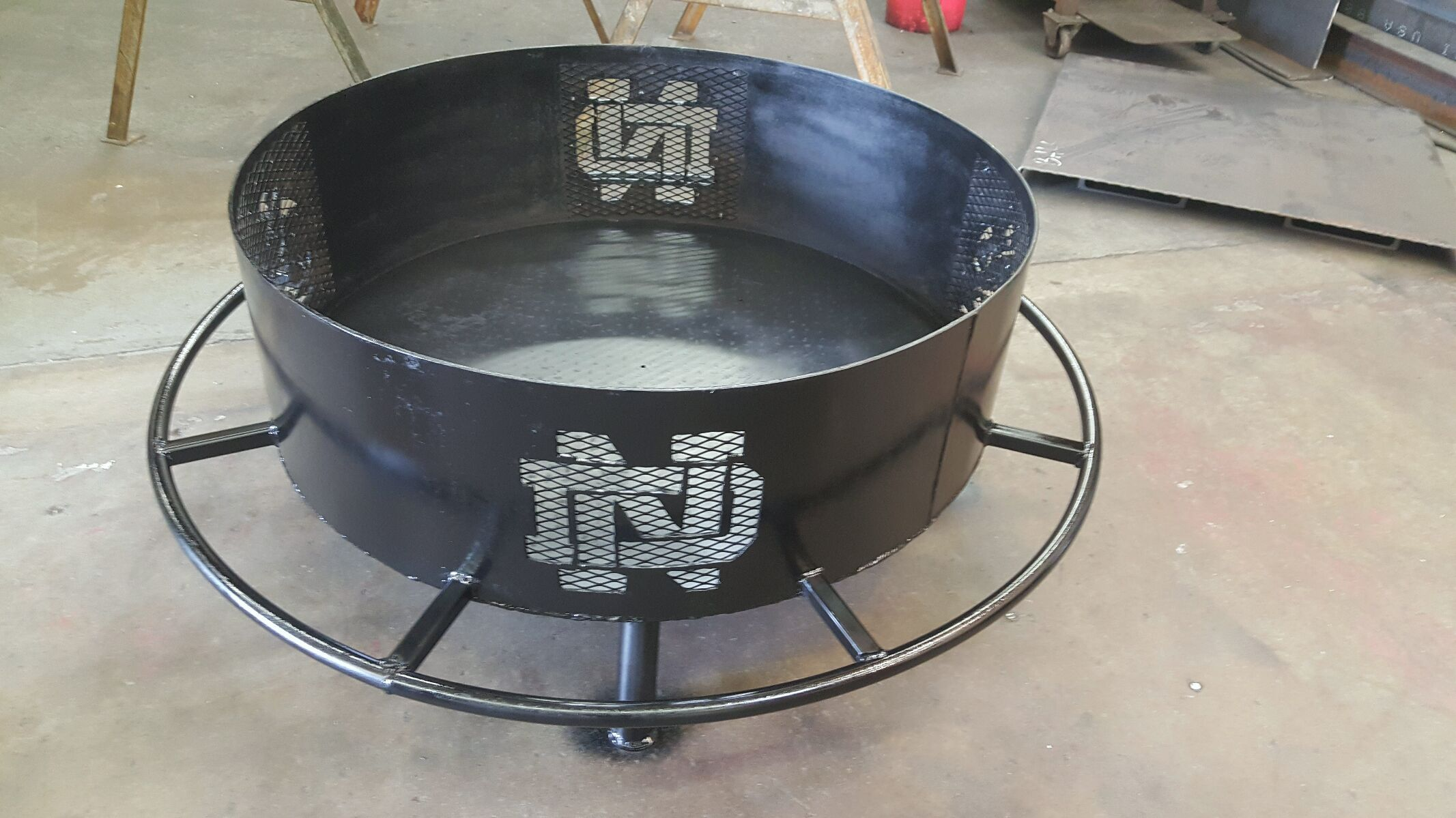 Round Fire Pit Custom Fire Pit Fire Pit Notre Dame